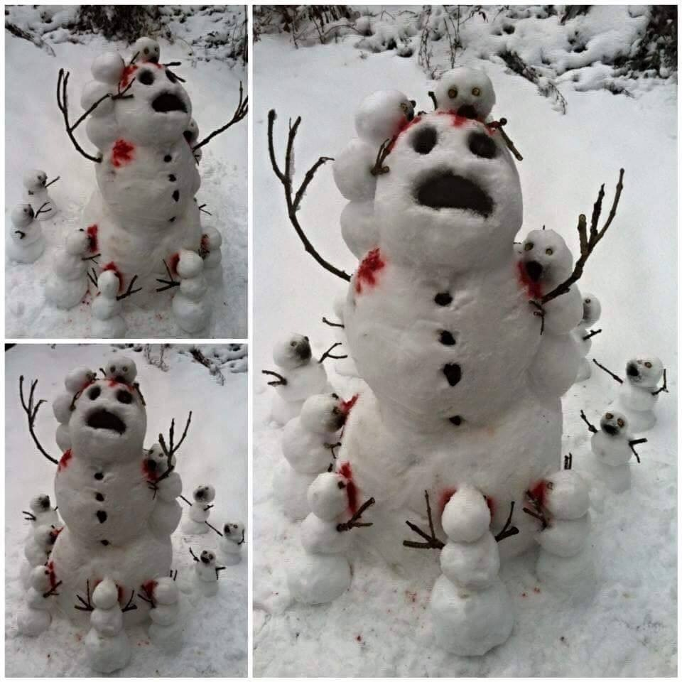 Snow-man-canibles