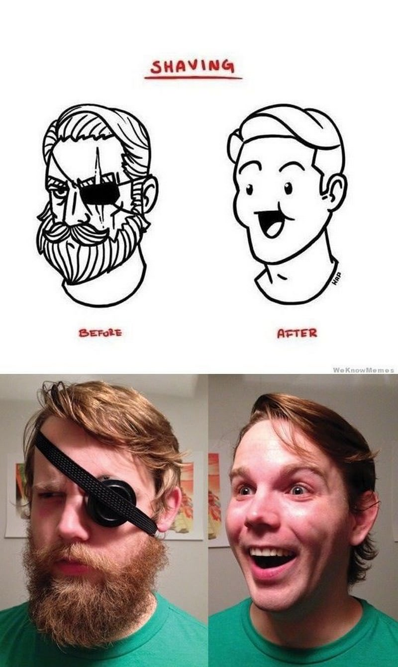 Shaving-before-and-after
